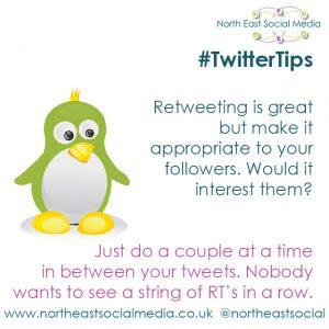 Social Media North East, Twitter Tips