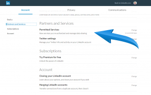 LinkedIn Permitted Services