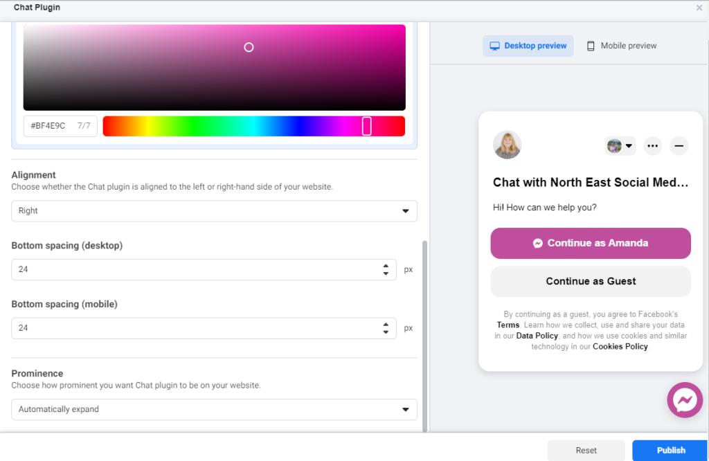 Facebook Chat box edit design